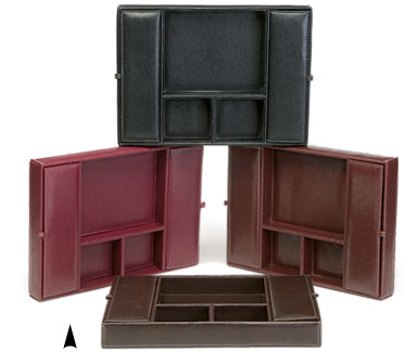 Faux leather - Faux leather desk organizer ...